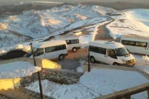 Nemrut Minibus Park Snow
