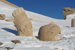 Nemrut Statue Covered with Snow