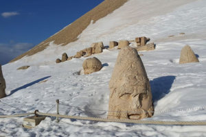 Nemrut Statue Snow Covered